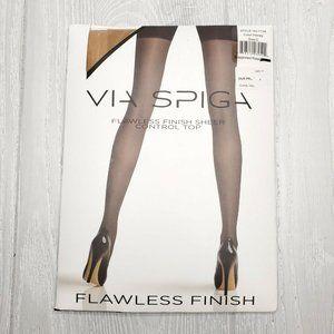 Via Spiga Flawless Finish Sheer Ctrl Top Pantyhose